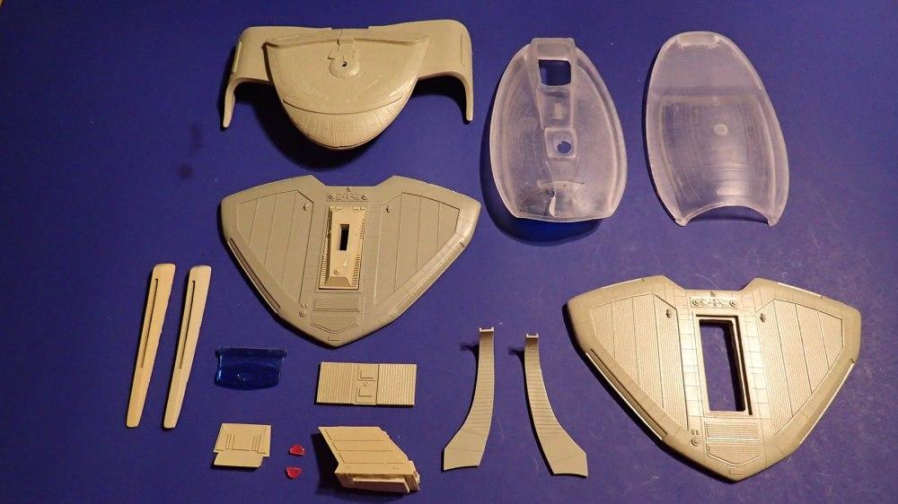 Resin USS Nebula Parts Layout